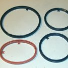 4 New Berlin Plastic Hoops With Hanger Tabs,Asst Sizes