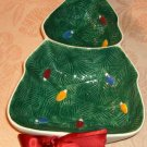 Divided Christmas Tree Candy Dish,Stars & Ribbons,Cute