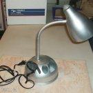 Silver Desk Organizer Lamp,Keep Paper Clips,Etc Handy