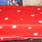 Star Decorated Throw,Fleece, Pretty Red ,Comfy,Warm,New