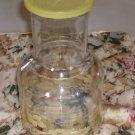 Yellow Floral Juice Jar.Refrigerator Beverage Bottle