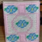 Handmade Pink & Blue Tissue Box Cover, Boutique Style