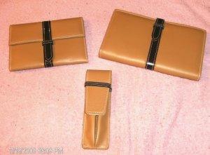 3-Pc Brown Wallet,Photo Ablum/CC Case,Pen Holder,Pretty