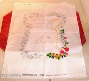 Babies Touch The World With Love-Adorable Baby Sampler
