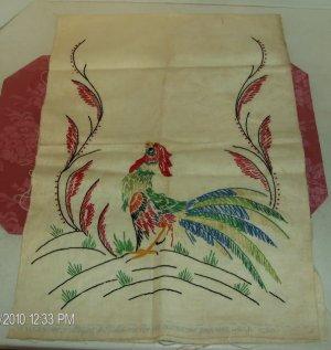 Colorful Peacock Dresser Scarf,Vogart Pattern,#527,Cute