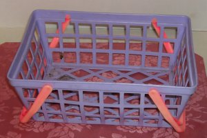 Purple Toy Shopping Basket,Great For Little Girls Kitchen,Fill with Toy Grocerys