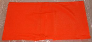 Fabric Book Cover - Orange Stretchy Polyester - Cute