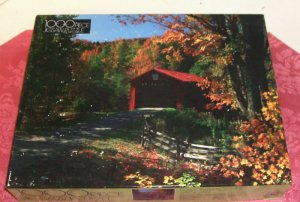1000 Piece Fully Interlocking Puzzle, Complete, Autumn Passage,From Golden, Open