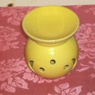 Yellow Moon and Circles Candleholder, Bright and Pretty, Tea Light or Pillar