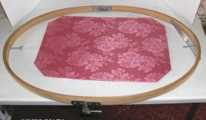 """Wood Quilting Hoop, 27"""" x 18"""" App,  Great For Quilting or Lg Embroidery Projects"""