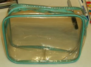 Turquoise Trimmed Clear Bag-Vinyl, Great For Anything