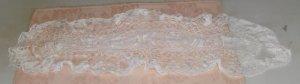 Crocheted Dresser Scarf or Table Runner, Small Size, Handmade, Needs Mending