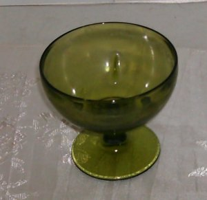 Green Footed Flower Dish,Very Pretty, Use For Candy or Flowers,Great for Desk
