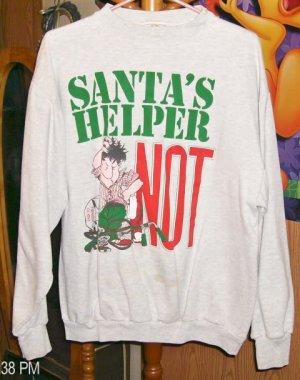 Santas Helper Not Cute Christmas Sweatshirt From Ross International, One Size