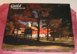 1000 Piece Fully Interlocking Puzzle, Complete,New Jersey Farm,From Guild,Open