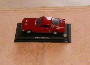 Ford Mustang Replica Car,Great For Collection or Toy, Comes With Base, No Cover