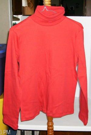Allison Brittany Red Turtleneck 100% Cotton, Size Medium, Nice Comfortable Shirt