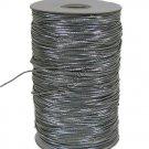"Silver Metallic Elastic Cord/String 1/16"" 288 yards NEW"
