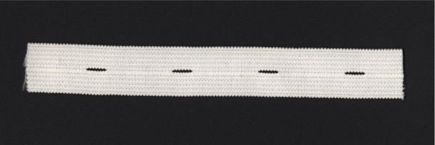 """White Buttonhole Elastic Roll 1"""" Inch Width 30 YDS"""