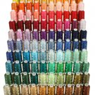 120 CONES OF LARGE POLYESTER EMBROIDERY MACHINE THREAD