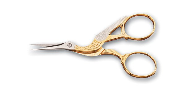 "Mundial Classic Forged 3 1/2"" Stork Embroidery Scissors"