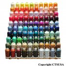 100 CONES OF LARGE POLYESTER EMBROIDERY MACHINE THREAD