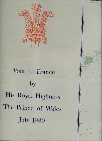 ROYAL YACHT BRITANNIA SIGNED CHART