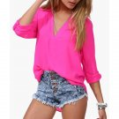 SAVANAH - CHIFFON BLOUSE - PINK SMALL