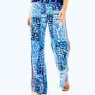 NWOT $128 Lilly Pulitzer Bal Harbour Palazzo Pants Indigo Lied Back Engineered S