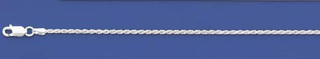 SILVER DIA-CUT ROPE ANKLET