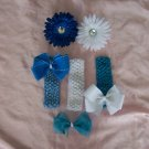 All About Blue--Hair Bow Gift Set