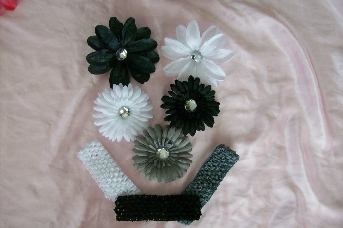 Black Tie Affair--Elegant Hair Bow Gift Set