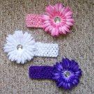Flower Clips with Matching Headbands--Starter Kit--