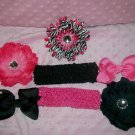 Born to Be Wild--Hair Bow Gift Set---Makes a Great Gift--