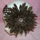 Interchangeable Brown Flower Clip--With Matching Headband