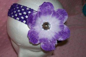 Purple Interchangeable Peony Flower Clip---