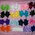 U Pick 5 Spikey Boutique Hair Bows With 5 Headbands
