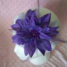 BEAUTIFUL----Large Purple Flower Clip