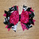 Hot Pink and Zebra Print Boutique Style Bow----CUTE----