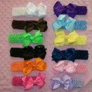 U Pick 5 Boutique Hair Bows and 5 Headbands-- Huge Savings--From bowdaciousbows417