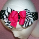 Pink Black and Zebra Print Boutique Style Hair Bow---CUTE----
