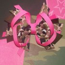 Pink and Camo Print Large Boutique Style Bow---A MUST HAVE---