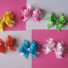 6 Boutique Style Bows---Basic Brights---Perfect for SUMMER---Great Gift Idea---