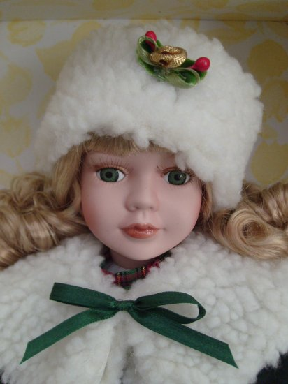 Holiday Dressed Porcelain Doll