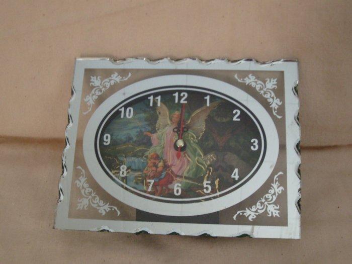 Wholesale Lot of 6 Angel Face Glass Frame Clocks