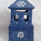Holiday House Ceramic Tea Light Candle Holder