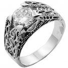 Diamond CZ Filigree Design Ring