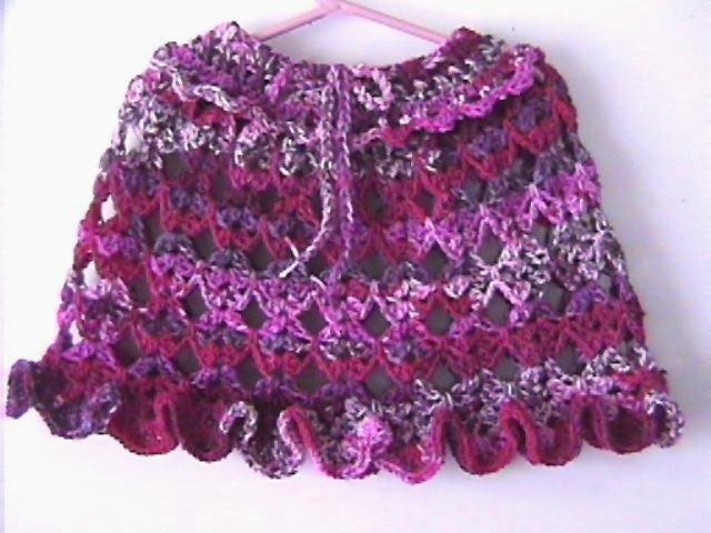Berry Berry Girls Poncho Pattern Offered by Designer