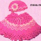 Original Crochet Pattern Coral Frills offered by designer