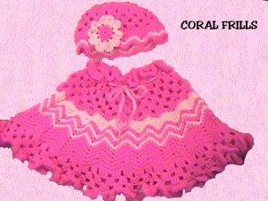 Original Crochet Pattern Coral Frills offered by designer